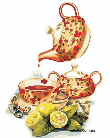 Картины по номерам 30*40 см БЕЗ КОРОБКИ Чай с лимоном Artstory