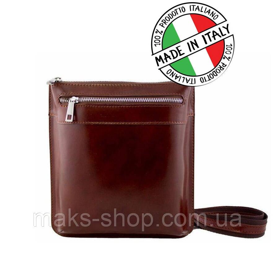 91cbc429cb2c Кожаная стильная итальянская сумка на плечо унисекс Bottega Carele - Maks  Shop- надежный и перспективный