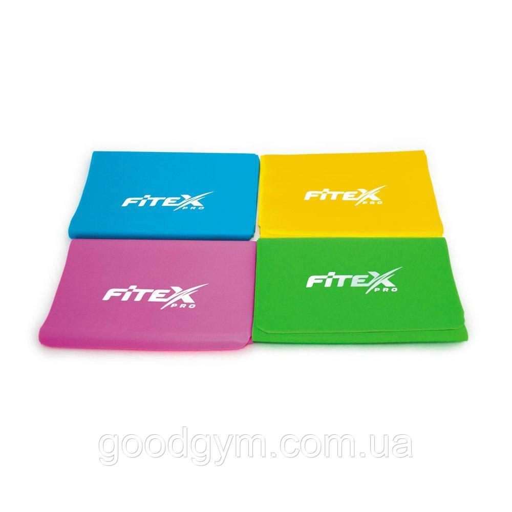 Набор ленточных эспандеров разного уровня сопротивления, 4 шт Fitex MD1318