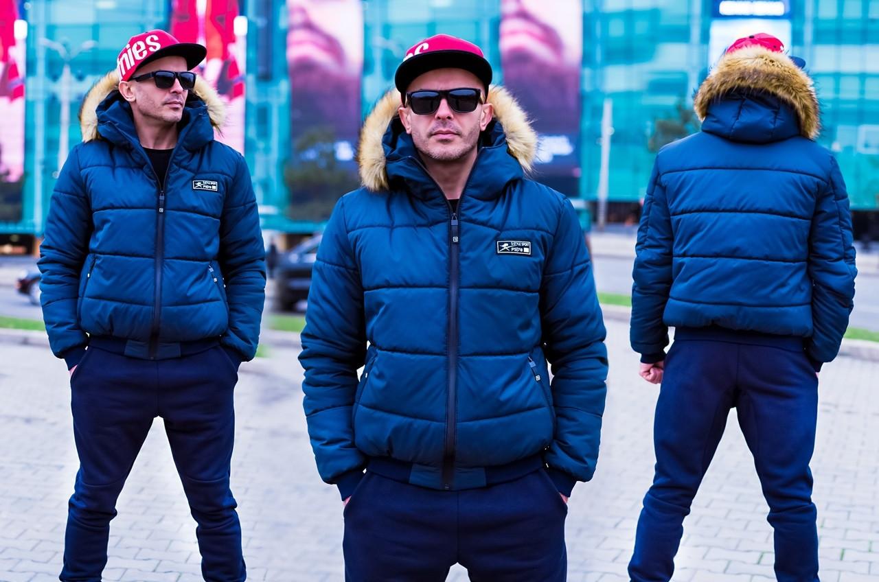 Стильная мужская куртка с мехом (3 цвета), фото 1