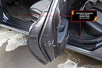 Накладки на внутренние пороги дверей Hyundai Accent \ Solaris седан 2017+ г.в., фото 1