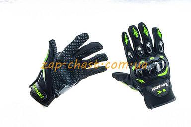Перчатки   KAWASAKI   (черно-зеленые size XL)