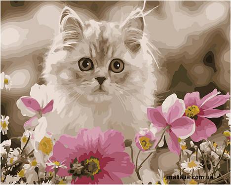 Картины по номерам 30*40 см БЕЗ КОРОБКИ Среди цветов Artstory