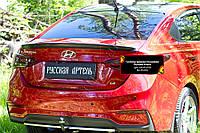 Спойлер крышки багажника Hyundai Accent \ Solaris седан 2017+ г.в. , фото 1