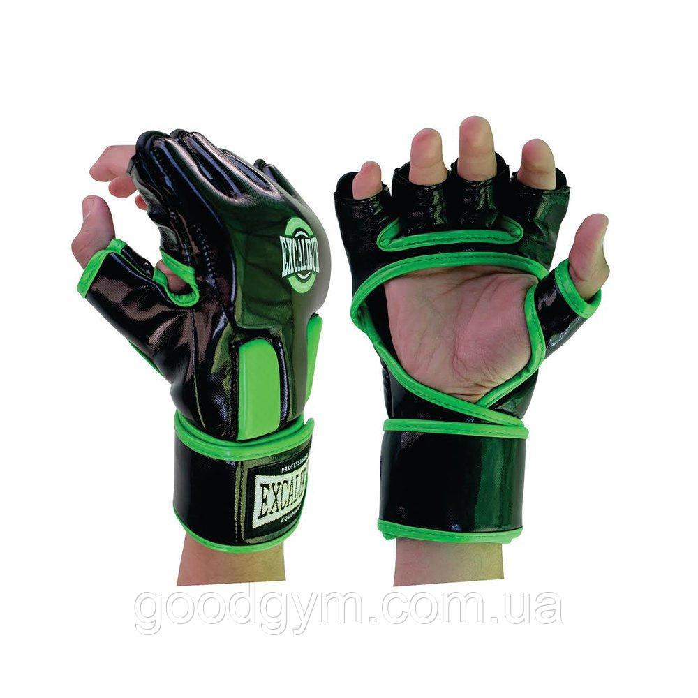 Перчатки MMA Excalibur 667 L зеленый/черный