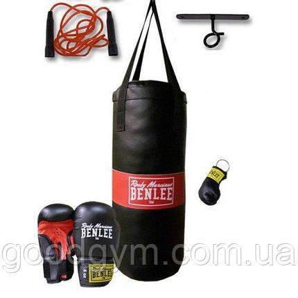 Набор мешок и перчатки для бокса BENLEE Punchy (199077/1000) Черный, фото 2