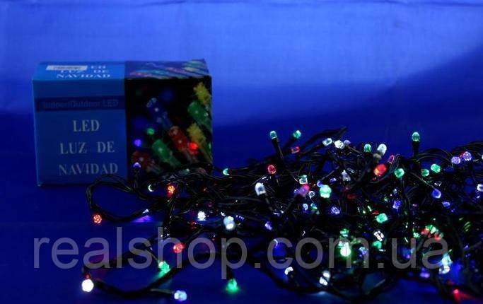 Новогодняя гирлянда LED 100 M-2 RGB COLOR  (100 светодиодов)  Мультицветная