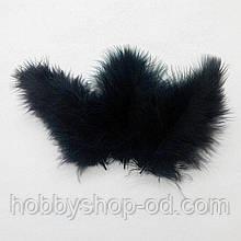 Пір'я натуральні чорні (10 штук)