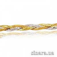 Золотая цепочка из желтого, белого и красного золота Косичка 5947