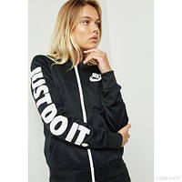 Толстовки и Свитера женские Nike black Varsity Graphic Jacket for Women  882901-010(02 47e64f42b87a3