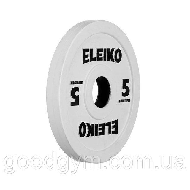 Олимпийский диск Eleiko для соревнований и тренировок 5 кг цветной 124-0050R
