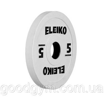 Олимпийский диск Eleiko для соревнований и тренировок 5 кг цветной 124-0050R, фото 2