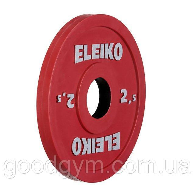 Олимпийский диск Eleiko для соревнований и тренировок 2,5 кг цветной 124-0025R