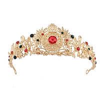 Невеста горный хрусталь кристалл принцесса королева золотая корона тиара венчания выпускного вечера партии головной убор 1TopShop