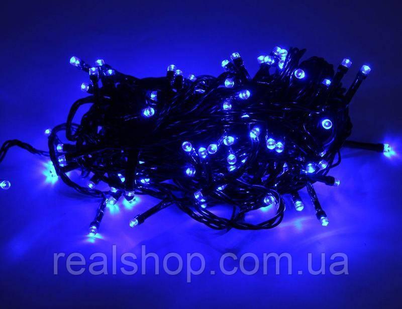 Новогодняя гирлянда LED 100 B-2 RGB COLOR  (100 светодиодов)  Синий
