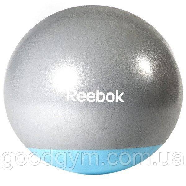 М'яч гімнастичний Reebok RAB-40015BL - 55 см сірий/синій