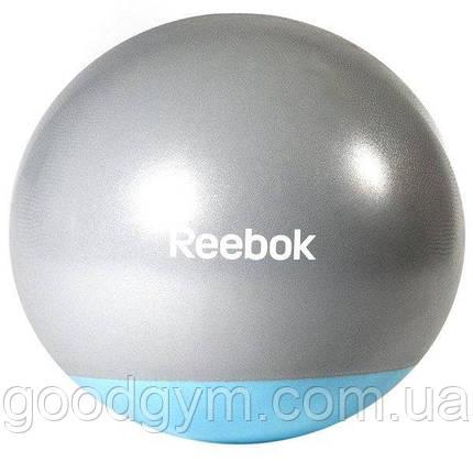 М'яч гімнастичний Reebok RAB-40015BL - 55 см сірий/синій, фото 2