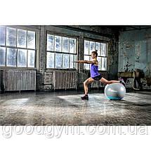 Мяч гимнастический Reebok RAB-40015BL - 55 см серый/голубой, фото 2