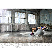 М'яч гімнастичний Reebok RAB-40015BL - 55 см сірий/синій, фото 3