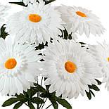 Букет белых ромашек, 50 см (10 шт в уп), фото 3
