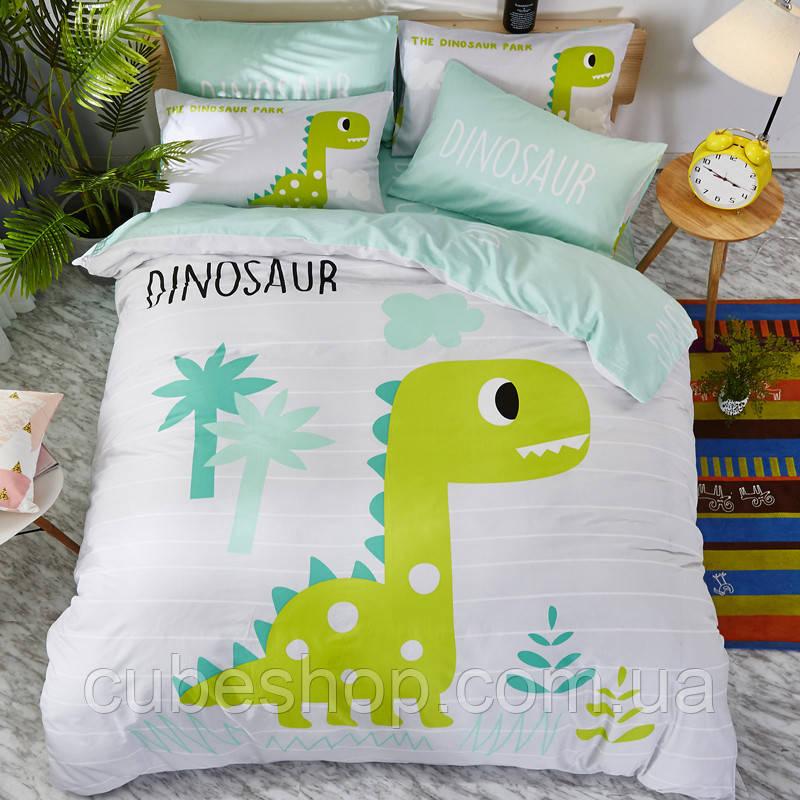 """Комплект постельного белья """"Динозавр"""" (двуспальный-евро)"""