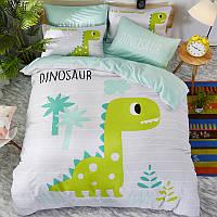 """Комплект постельного белья """"Динозавр"""" (двуспальный-евро), фото 1"""