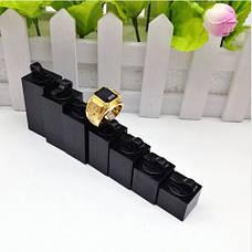 Подставки для колец (7шт в наборе) акриловые держатели квадратные черные, фото 2