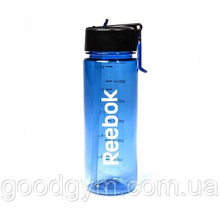 Бутылка для воды Reebok Water Bottle - Pl 65cl Blue, фото 2