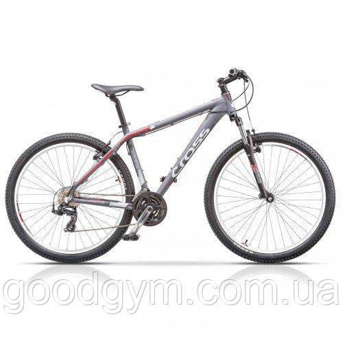 """Велосипед 26"""" CROSS GRX 7 21 spd рама 20"""" 2015 серый"""