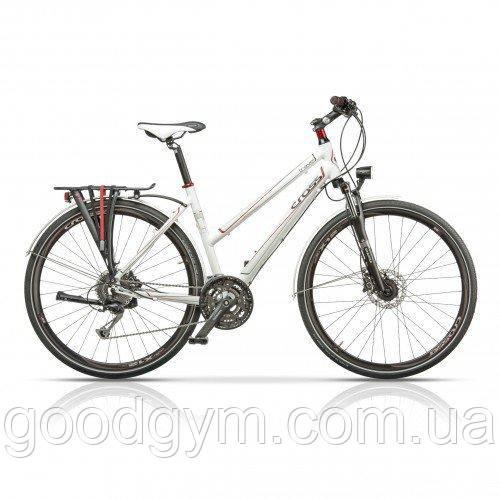 "Велосипед 28"" CROSS Travel Lady 27 spd рама 17"" 2015 белый"