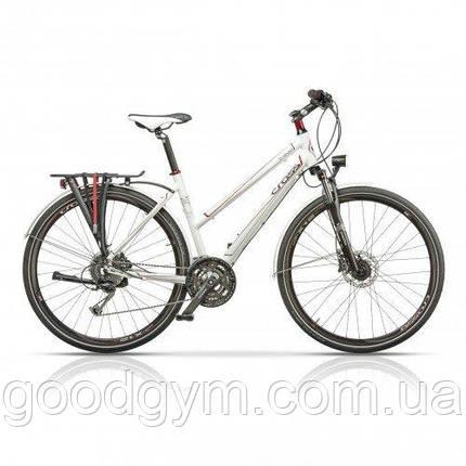 "Велосипед 28"" CROSS Travel Lady 27 spd рама 17"" 2015 белый, фото 2"