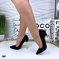 Босоножки черные замша натуральные каблук шпилька в категории туфли ... ed2140b3ada