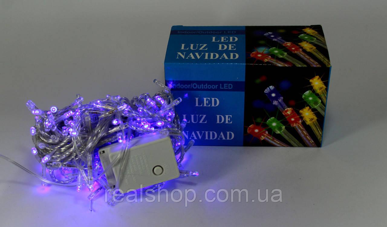 Новогодняя гирлянда LED 500 B-1 RGB COLOR  (500 светодиодов)  Синий