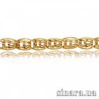 Золотая цепочка Нонна с алмазной насечкой 5920