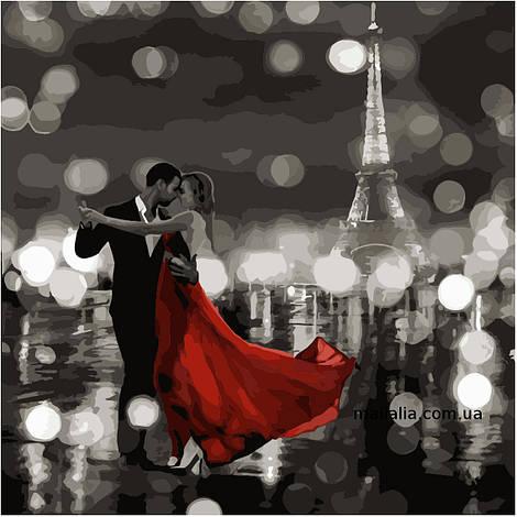 Картины по номерам 40*40 см БЕЗ КОРОБКИ Ночное танго Artstory