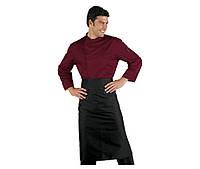 Комплект повара (китель + фартук) бордовый с черным Atteks - 00988