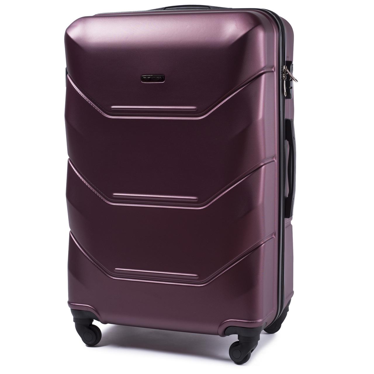 Малый пластиковый чемодан Wings 147 на 4 колесах бордовый