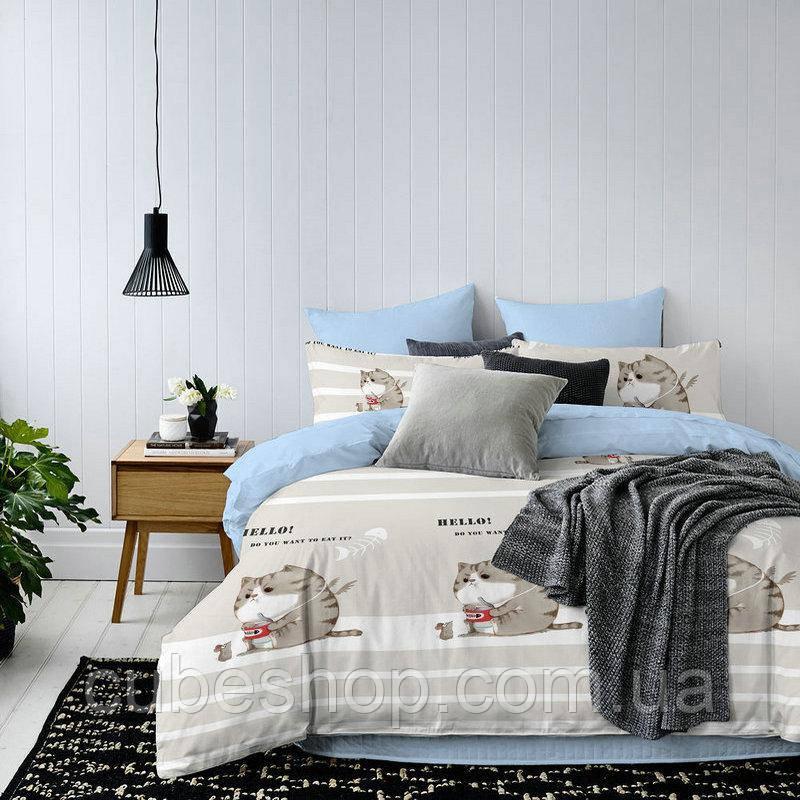 """Комплект постельного белья """"Кошка и мышка"""" (двуспальный-евро)"""