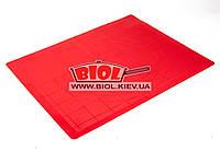 Силиконовый коврик 50х40см (красный цвет) с нанесенными кругами для раскатки Empire EM-0058-3