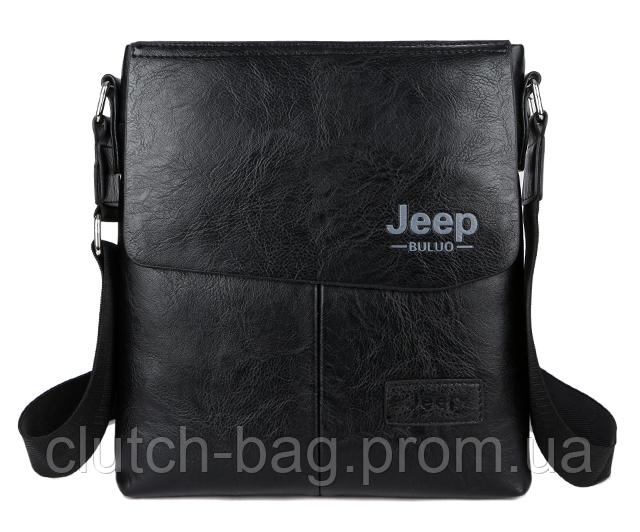 d5adfa7b6c4f Черная большая мужская кожаная сумка планшет Jeep Buluo : продажа, цена в  Кременчуге. ...