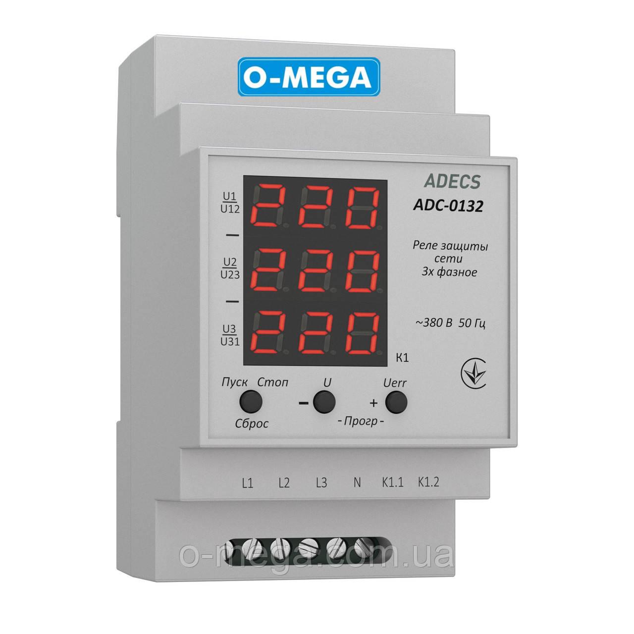 Реле контроля напряжения трёхфазное Adecs ADC-0132-10