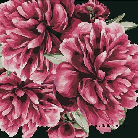Картины по номерам 40*40 см БЕЗ КОРОБКИ Цветы для тебя Artstory