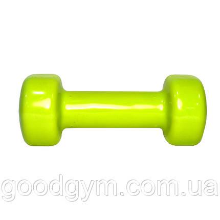 Гантель виниловая Fitex MD2015-2V, 2 кг, фото 2