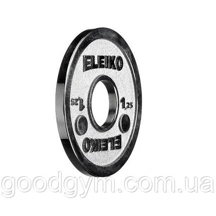 Диск Eleiko для соревнований по пауэрлифтингу 1,25 кг 3000237, фото 2