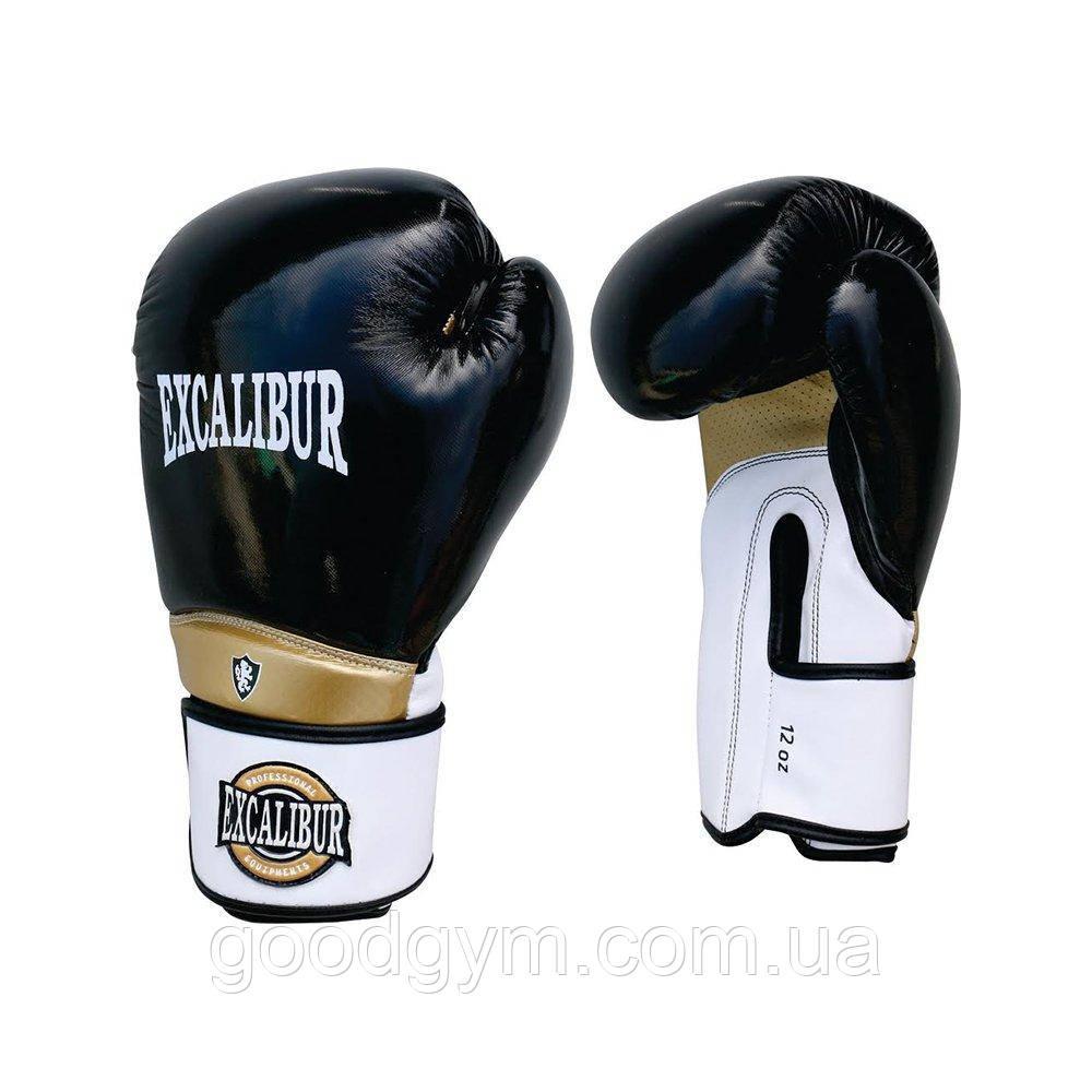 Перчатки боксерские Excalibur 8020 (10 oz) белый/черный