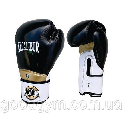 Перчатки боксерские Excalibur 8020 (10 oz) белый/черный, фото 2