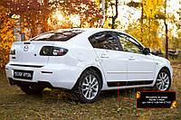 Молдинги на двери Mazda 3 седан 2006-2009 Рестайлинг I (BK), фото 1