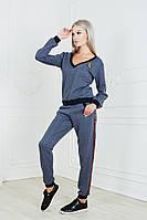 Женский стильный спортивный костюм на манжетах Косичка, фото 1