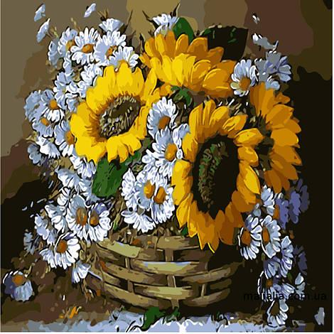 Картины по номерам 40*40 см БЕЗ КОРОБКИ Цветы для бабушки Artstory