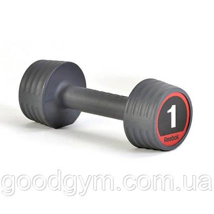 Гантель Reebok RSWT-10051 1 кг (черный), фото 2